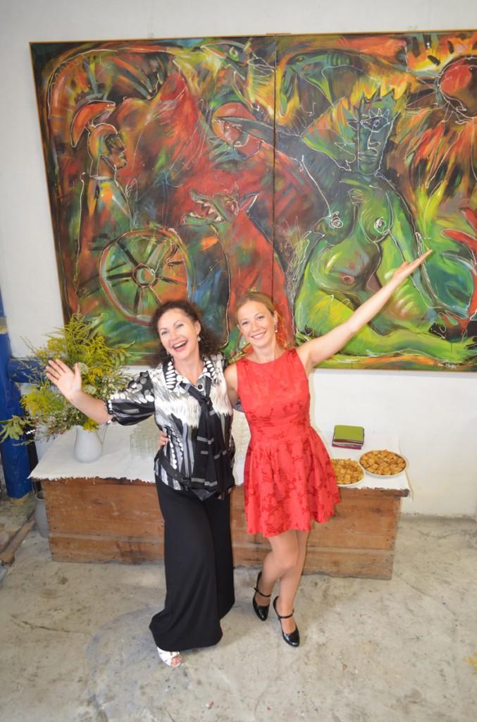 Iryna Mathes mit Anamaria Nicoară
