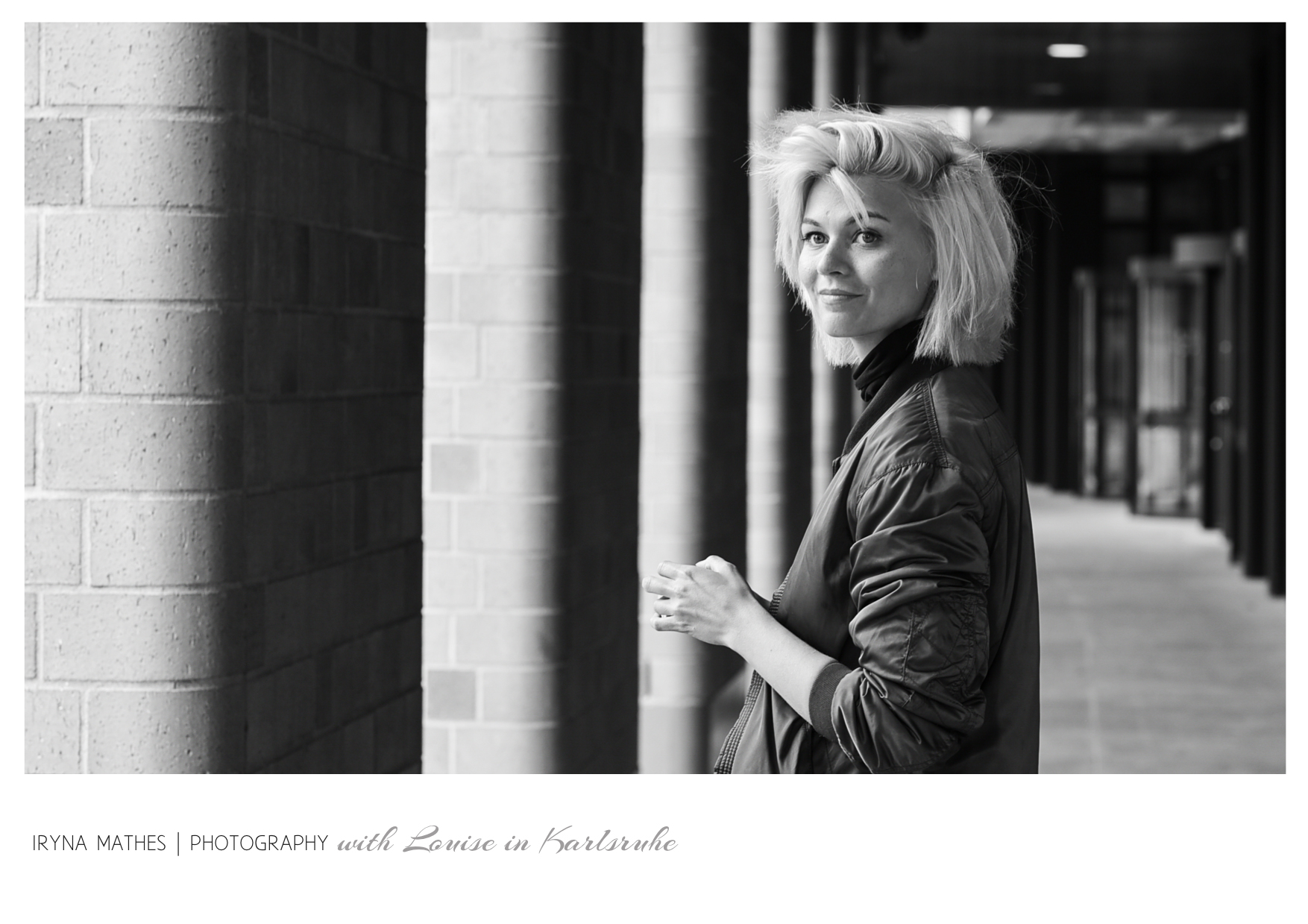 Model Louise in Karlsrihe, Iryna Mathes People Photography. Streetlife Fotografie