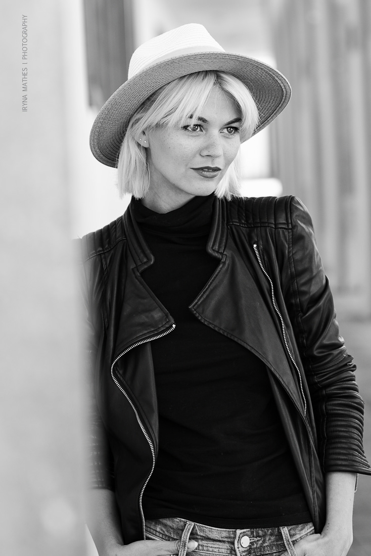 Model Louisa Mazzurana, Karlsruhe. Street Photography Iryna Mathes